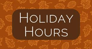 our thanksgiving hours jewett orthopaedic clinic