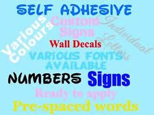 self adhesive letters ebay