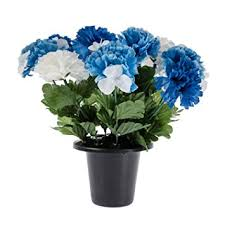 graveside flowers homescapes blue white grave flowers in pot carnations mix in grave