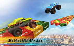 toy monster trucks racing impossible tracks sky racing monster truck race android apps on