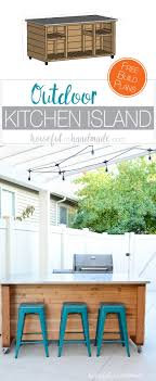outdoor kitchen islands outdoor kitchen island build plans a houseful of handmade