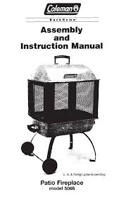 Coleman Firepit Coleman Pit 5066 User Guide Manualsonline