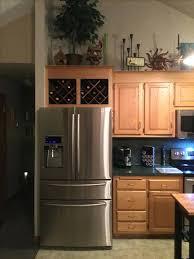 wine rack cabinet over refrigerator wine rack over fridge wine rack cabinet above fridge photo 4 wine