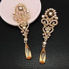 gold drop earrings flola silver drop earrings for women luxury wedding