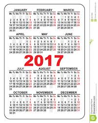 2017 pocket calendar 2017 calendar with holidays