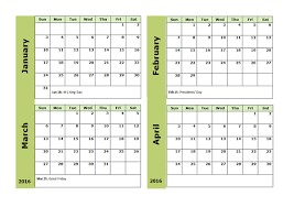 printable 2017 calendar two months per page 2017 excel 4 month calendar template free printable templates