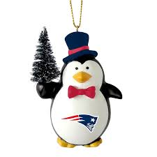 nfl penguin with tree ornament new patriots fitness