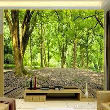 papier peint de bureau acheter livraison gratuite 3d stéréo personnalisé paysage vert