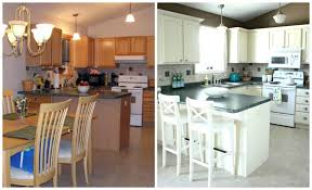 kitchen marvelous before and after kitchen oak cabinets painted