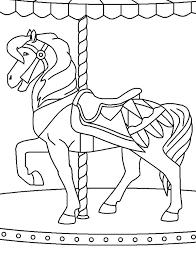 carnival carousel horse colouring carnival carousel horse