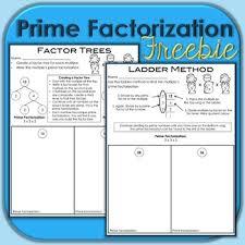 prime factorization freebie by brenda kovich teachers pay teachers