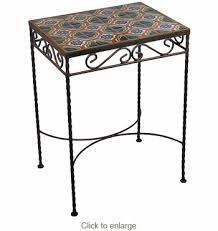 Iron Side Table Mexican Tile Wrought Iron Side Table Patio Decor