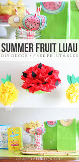 luau decorations summer fruit luau how to make pineapple and watermelon party