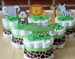 jungle diaper cake jungle baby shower baby shower