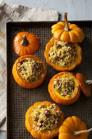 vegan thanksgiving showpieces nutty curry stuffed squash mock