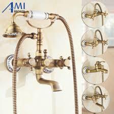 Discount Antique Brass Bath Shower Taps  Antique Brass Bath - Faucet sets bathroom