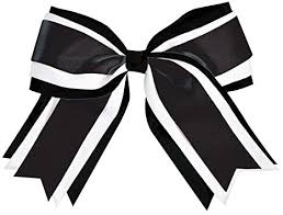 hair bow jumbo 3 color hair bow black clothing