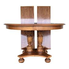 Pedestal Dining Table Ethan Allen Maple Pedestal Dining Table With 2 Leaves Chairish