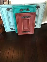 Turquoise Cabinet Anniversary Sale Antique Distressed Multi Color Blue Red Indian