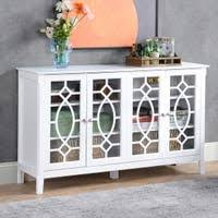 gremlin wheeled kitchen storage sideboard buffet cabinet white wood buy white buffets sideboards china cabinets at