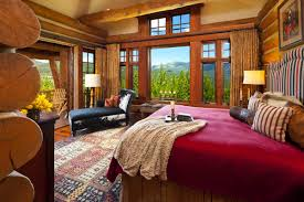 Beautiful Log Home Interiors by Log Cabin Bedrooms