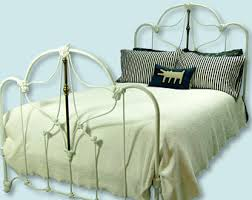 wrought iron bed etsy