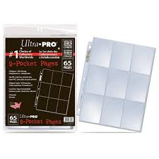 9 pocket pages ultrapro pages for cards 65 pack walmart