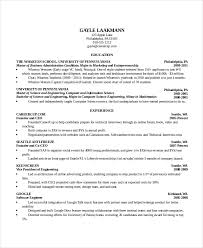 Sample Resume Of Ceo by Computer Science Resume Template 7 Free Word Pdf Document