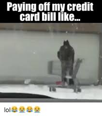 Credit Card Meme - paying off my credit card bill like lol meme on me me