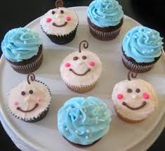 simple cupcakes for baby shower baby blue cupcakes baby shower diy
