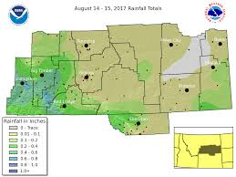 rainfall totals map august 14 15 2017 rainfall totals