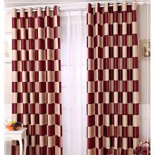 Plaid Blackout Curtains Wine Blackout Modern Brief Style Customized Plaid Curtains