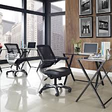 modern mesh back ergonomic office chair with flip up arms
