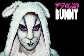 Creepy Makeup Halloween Halloween Makeup Psycho Bunny Improvised Makeup Youtube