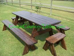 Wooden Picnic Tables With Separate Benches Picnic Table And Bench Pricing