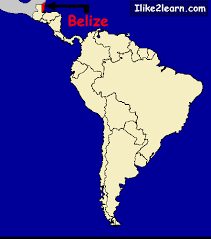south america map belize belize map