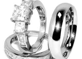 stainless steel wedding ring sets stainless steel wedding ring sets stainless steel ring set