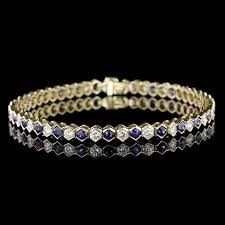 diamond bracelet with sapphire images Tiffany co 18k yellow gold sapphire and diamond bracelet jpg