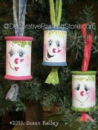 wooden spool ornaments holliday projects wooden