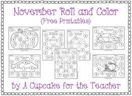 thanksgiving math themed roll color printables