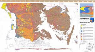 Map Og Jordartskort Over Danmark Sydjylland Og Fyn Soil Map Of