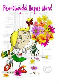 welsh language greeting card happy birthday mum penblwydd