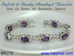 silver bracelet with stones images Amethyst bracelet gold or sterling silver bracelets with amethyst jpg