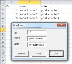 how to update data of an excel sheet in a userform with vba