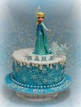 frozen square cakes ideas birthdays 5936