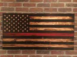 American Flag To Color Now Available Rustic Burnt Thin Red Line American Flag With Fire