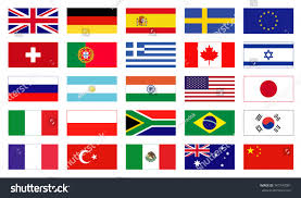 Flags In Vector Flags World Icons Flags Flat Stock Vector 347747081