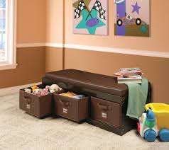 amazon com badger basket kid u0027s storage bench with cushion and 3