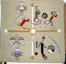 sandpaintings style navajo rug authentic native american rugs