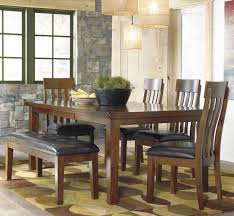 6 pc dinette kitchen dining room set table w 4 wood chair ralene 6 pc dining set with bench by signature design by ashley